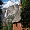 The Chapel with views of Yosemite Falls