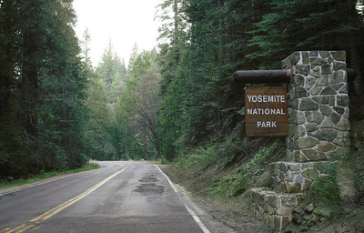 Driving into Yosemite from Oakhurst, CA