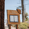 Board posting daily activities at Glacier Point