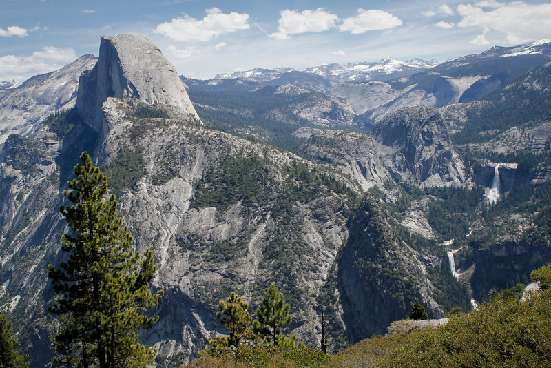 Glacier Point view of Half Dome, Vernal Fall and Nevada Fall