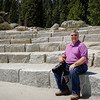 Gary in one of the 150 seats in the granite amphitheater at Glacier Point