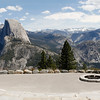 The amphitheater at Glacier Point has one of the most beautiful viewpoints in the Park