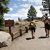 Beginning of a hike at Glacier Point.  It was Mother's Day so lots of families in the Park.