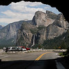 Wow!  View of Bridalveil Fall and Half Dome as we came out of the Tunnel.