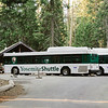 Shuttle station in the Mariposa Grove area