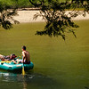 Floating on the Merced River in Cathedral Beach area