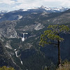 View of Liberty Cap, Nevada Fall and Vernal Fall from Glacier Point
