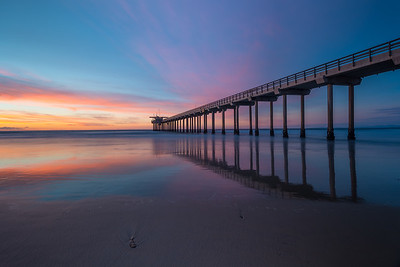 Scripps Pier at Sunset - La Jolla, California