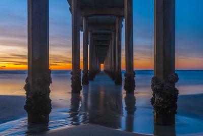 Under Scripps Pier - La Jolla, California