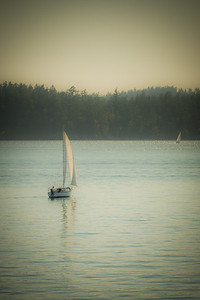 Sail Boat in the Strait of Juan de Fuca