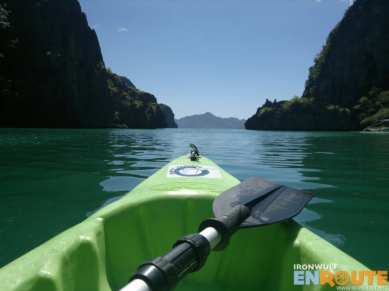 Our kayak and paddle as we exit Cadlao Lagoon