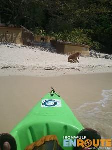 Kayak dock at the Sunset Beach