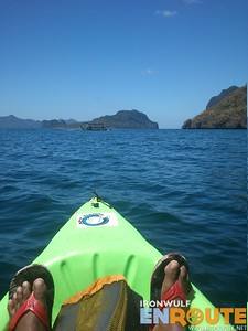 Kayaking along Cadlao Island Coast