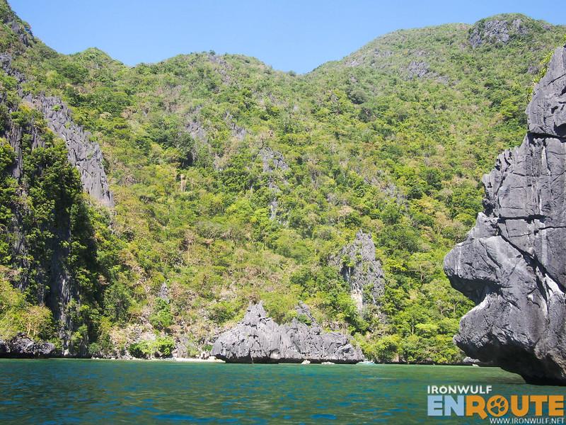 Entering Cadlao Lagoon