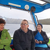 Hana, Grant and Carol on board boat Aihe heading to Freshwater Landing at head of Paterson Inlet