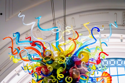 The colorful centerpiece hanging in Union Station