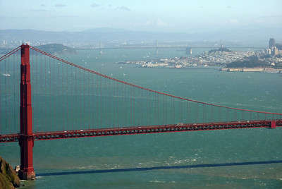 The Golden Gate Bridge, January 2013