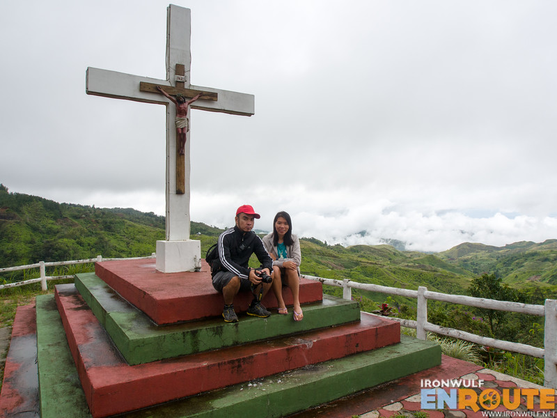 An altar and viewpoint at Seagull Mountain Resort with Marky and Ching