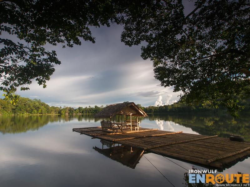 Still and reflective lake