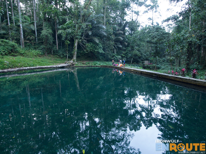 Man-made pool with cold spring water