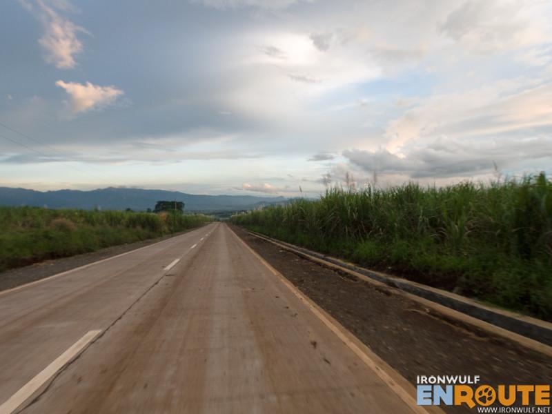 The road to Lake Apo