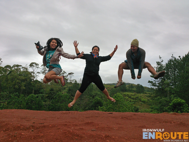 Our morning exercise, jumpshots with Doi and Ching