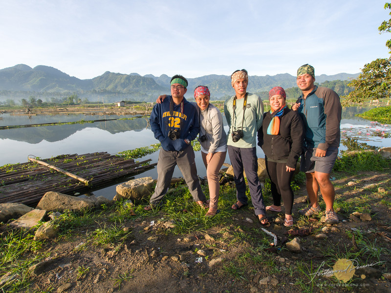 The team enjoying the morning at Lake Seloton