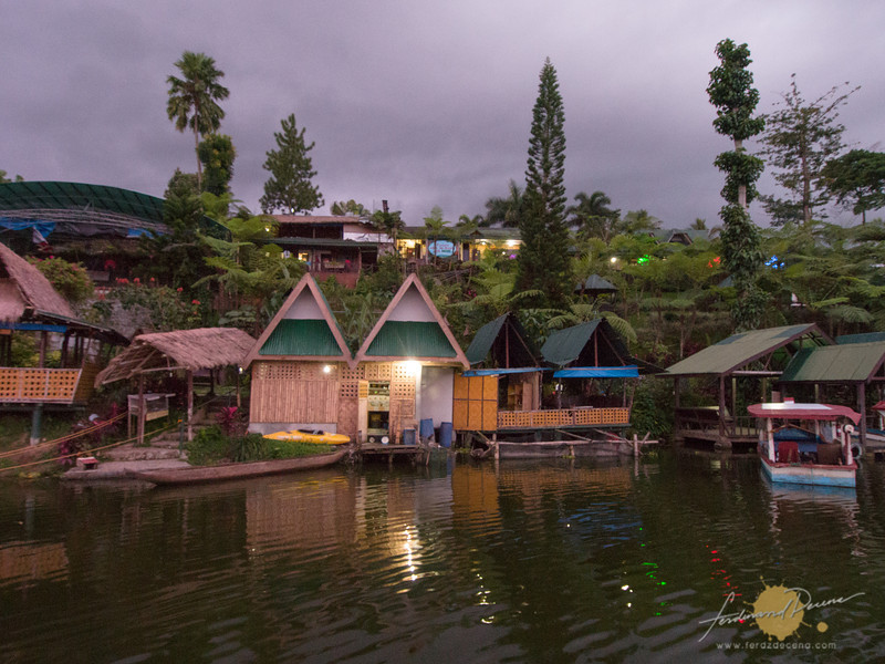 The resort viewed from the floating restaurant