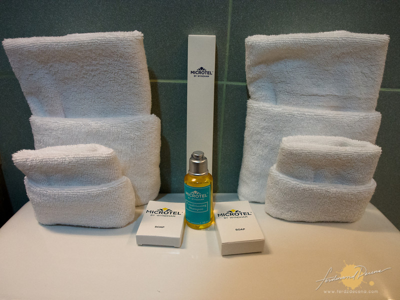 Toiletries set at Microtel