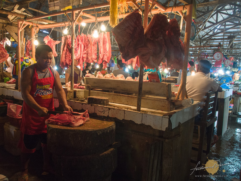 Cantilan market meat section