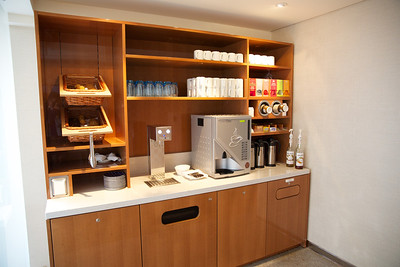 Viking Skadi Interiors, One of two coffee stations (coffee, tea, pastries, cookies)