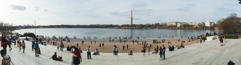From the steps of the Jefferson Memorial, Tidal Basin, Washington DC.
