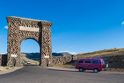 Heading into Yellowstone from Gardiner and the Roosevelt Arch