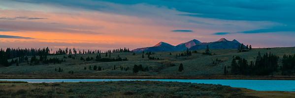 Sunrise in Yellowstone at Swan Lake
