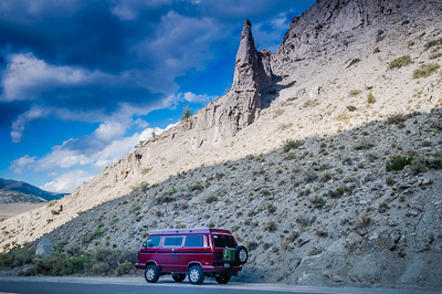 Traveling in Yellowstone in the Westy