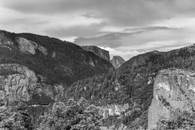Yosemite Valley - Black and White