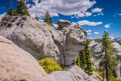 Rock formations at Glacier Point