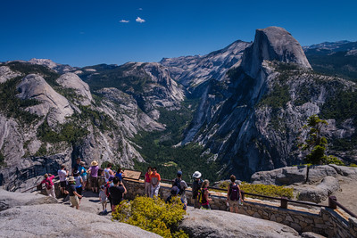 Viewing area at Glacier Point