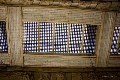 Glass floor of upper balcony (from below)