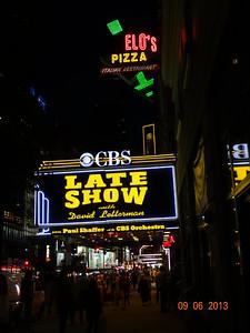 Ed Sullivan Theater at night