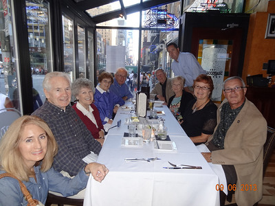 Carmel, Matt, Phil, Julia, Mike, Doug, Dan, Betty, Vadis, Dwaine - at Stagecoach Cafe