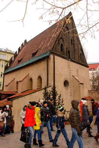 """This called the """"Old New Synagogue"""" in the quarter, built in the 1100's, and still used today."""