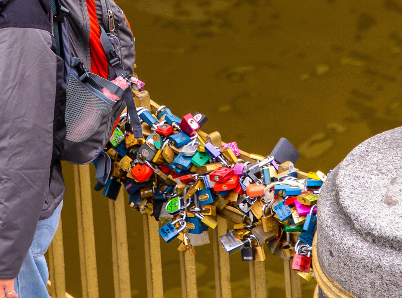 While marriage is not such a big thing in Prague, they show their love for each other by putting locks on specific bridges of the city.