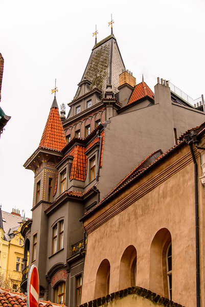 Another part of the Synagogue, note one of the City Gate tower, behind the building