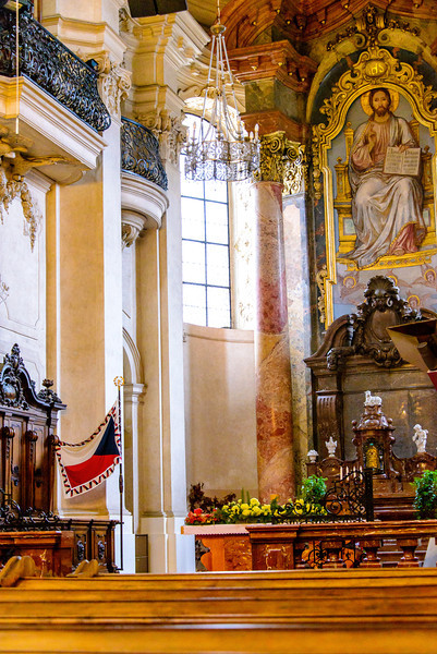 This is the gothic church interiors of Our Lady in front of Týn,