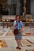 Rosa's mother in the magnificent St. Peter's Basilica.<br /> IMG_2825