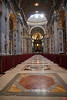 St. Peter's Basilica is the largest and longest church in world. It is 186 metres in length. The length of other churches are marked along the marble floor.<br /> _MG_2849