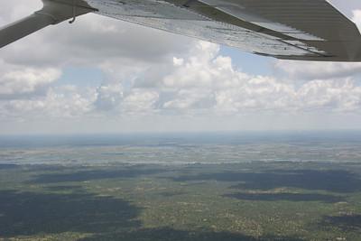 The land is wetter in the Okavango Delta.