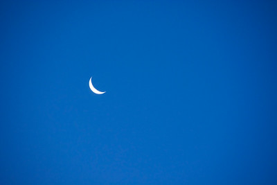 ...crescent moon in a blue sky. You knew that didn't you?