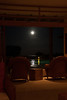 Moon -- you can see reflections in the ocean (distance) and pool.  End of Day 10.